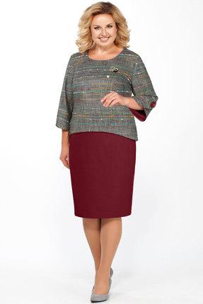 Фото - Комплект юбочный БагираАнТа 573 серый с бордо цвет серый с бордо