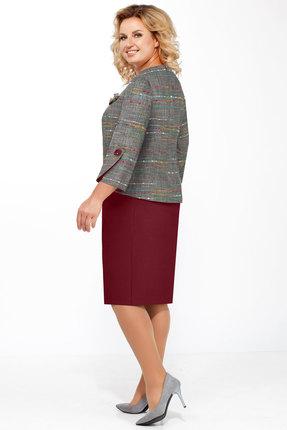 Фото 2 - Комплект юбочный БагираАнТа 573 серый с бордо цвет серый с бордо