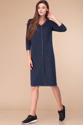 Платье Линия-Л Б-1752 темно-синий