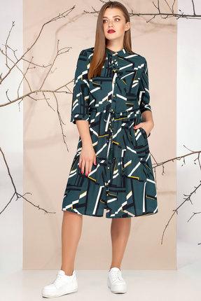 Платье Ivelta plus 1651 темно-зеленый