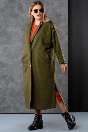 Фото - Пальто Deesses 8001 хаки цвета хаки