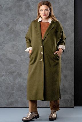 Фото 2 - Пальто Deesses 8001 хаки цвета хаки