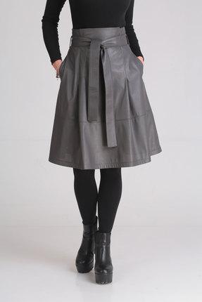 женская юбка ladis line, серая