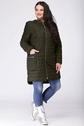 женское пальто ladis line, хаки