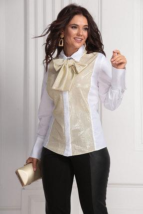 Блузка Solomeya Lux 625 молочный с золотом