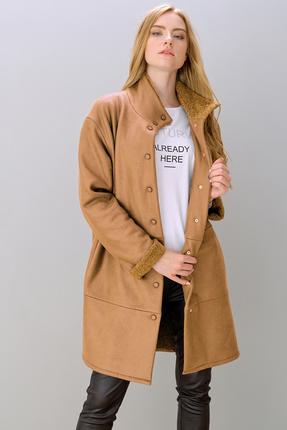 Пальто Фантазия Мод 3550 светло коричневые тона