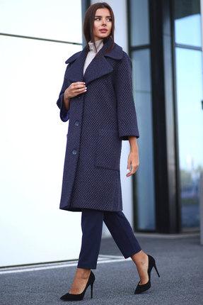 Пальто Миа Мода 1071-1 темно-синий