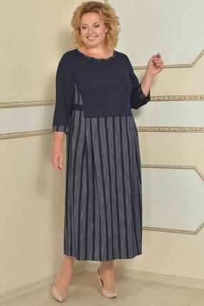 Купить со скидкой Платье Lady Style Classic 1681 синий с серым