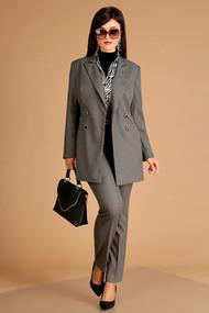 Комплект брючный Мода-Юрс 2369-1 зеленый+серый