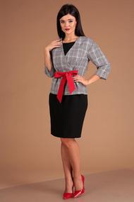 Комплект плательный Мода-Юрс 2507 черный с серым