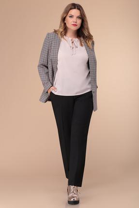 Комплект брючный Verita Moda 2012 серый с розовым