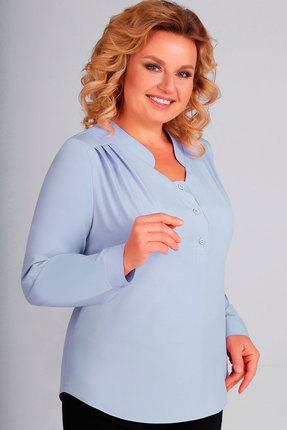 женская блузка асолия, голубая