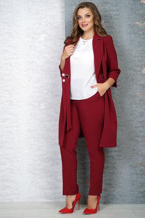 женский брючный костюм белтрикотаж, вишнёвый