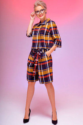 Фото - Комплект с шортами Euromoda 111.1/1 мультиколор разноцветного цвета