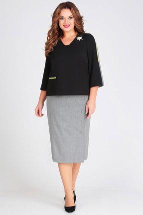 Фото - Комплект юбочный Denissa Fashion 1266 черный с серым цвет черный с серым