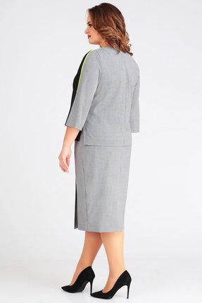 Фото 3 - Комплект юбочный Denissa Fashion 1266 черный с серым цвет черный с серым