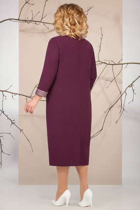 Фото 2 - Платье Ivelta plus 1654 Сливовые тона цвет сливовые тона