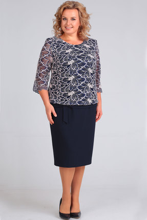 Платье TricoTex Style 5316 синий