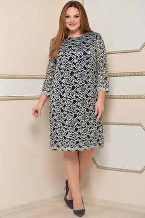 Купить со скидкой Платье Lady Style Classic 1493 чернильный с серебром