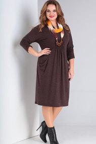 Платье Ришелье 679.3 шоколад