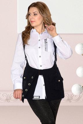 Женский однотонный черный жилет с карманами