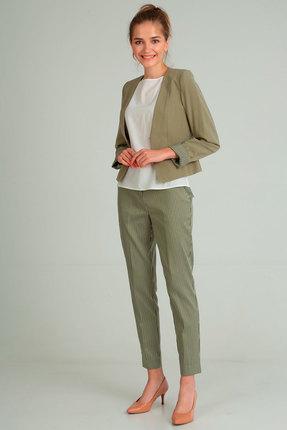 Комплект брючный Andrea Style 00172 олива