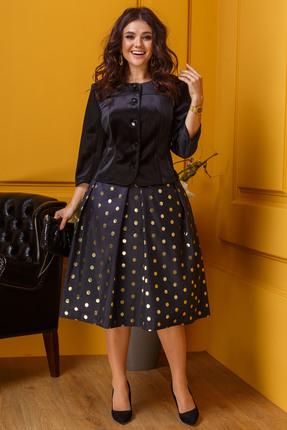 Комплект юбочный Anastasia 347 темно-синий