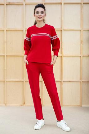 женский брючный костюм юрс, красный