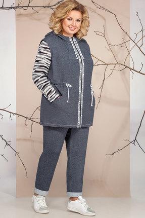 женский брючный костюм ivelta plus, серый