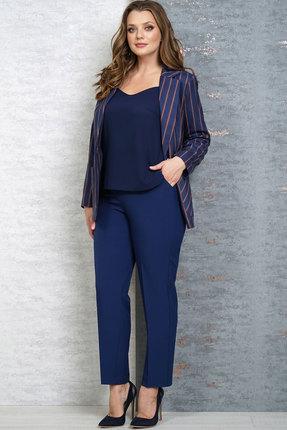 женский брючный костюм белтрикотаж, синий