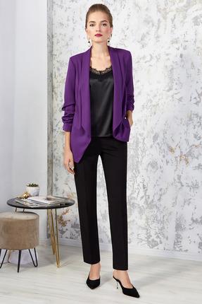 Комплект брючный Gizart 7251 фиолетовый с черным
