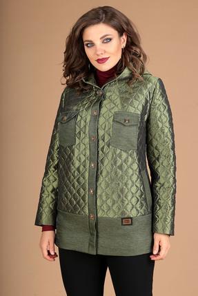 Куртка Мода-Юрс 2381 зеленый+отделка однотон