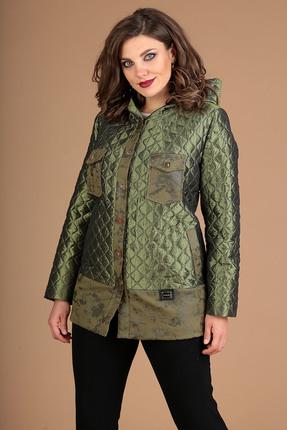 Куртка Мода-Юрс 2381 зеленый + отделка замш