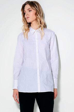 Женская белая хлопковая рубашка блузка