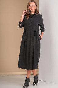 Платье Ришелье 648 тёмные тона