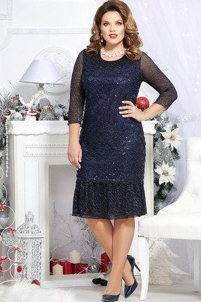 Платье Mira Fashion 4524 тёмно-синий