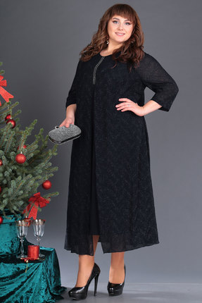 женское вечерние платье новелла шарм, черное