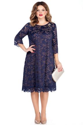 Платье TEZA 249 синие тона