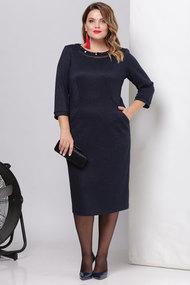 Платье Viola Style 0882 темно-синий