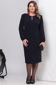 Платье Viola Style 0880 темно-синий