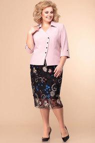 Комплект юбочный Romanovich style 2-1860 розовый с черным и цветным