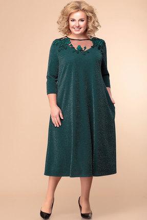 женское вечерние платье romanovich style, зеленое