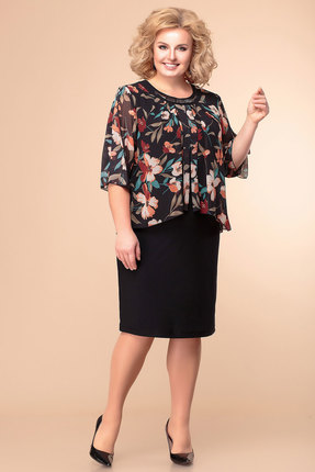 женское повседневные платье romanovich style, черное