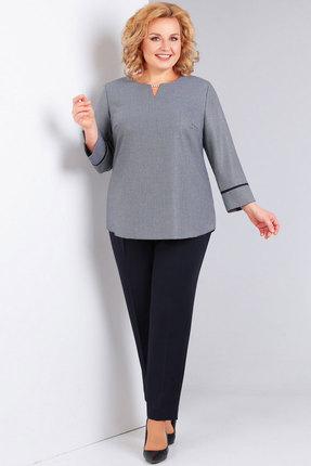 женский брючный костюм милора-стиль, серый