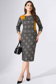 Платье Avanti Erika 913 серый с клеткой