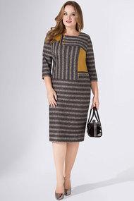 Платье Avanti Erika 913-1 серый с полоской