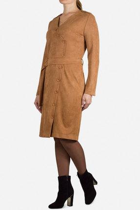 женское повседневные платье mirolia, рыжее
