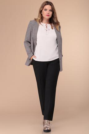 женский брючный костюм verita moda, серый