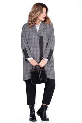 Женское прямое спортивное шерстяное пальто с карманами