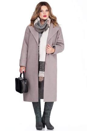 Женское розовое стеганое утепленное шерстяное пальто